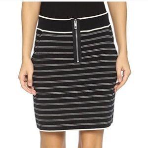 Rag and Bone Reagan Striped Mini Skirt w/Pockets
